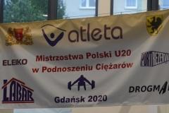 MISTRZOSTWA POLSKI JUNIOREK I JUNIORÓW W PONOSZENIU CIĘŻARÓW, Gdańsk 2020 r.